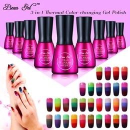 Beau Gel Base Top Coat UV Nail Gel Polish 3 Color Mood Color Cambio de polaco Cambio de temperatura Laca de barniz desde fabricantes