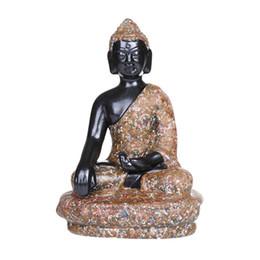 Canada Sud-Est asiatique Bouddha Artisanat Céramique Décoration Indien Assis Bouddhisme Religieux Meubles Maison Jardin Aquarium Table Ornement Décor supplier indian buddhism Offre