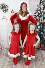 abito caldo della madre della madre Sconti I più nuovi vestiti di Natale Famiglia Look Abiti rossi di Natale Abiti Pigiama Vendita calda Madre e figlia Abiti da abbinare natalizi