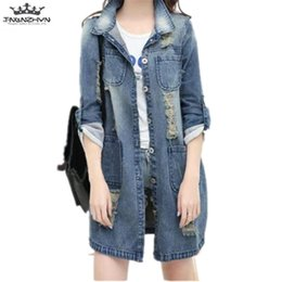 acbd410729db0 Plus Size S-5XL Denim Jacket tnlnzhyn 2018 New Spring Women Denim Jacket  Women Long Sleeved Jeans Coats ladies Coat Y1006 discount ladies spring  coats