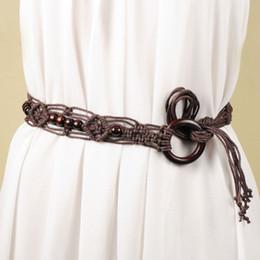 55c2e8d26259 designer belt for women Fashion ethnic wind woven belt with skirt boho  decorative belt long tassel