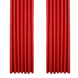 Wholesale Red Curtains For Living Room - Blackout Curtain Room Thermal Insulated Grommet Darkening Drape for Bedroom Living Room 39 x 84 Inch (Red)