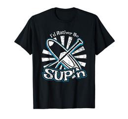 Sup chemise en Ligne-Drôle Souper Stand Up Paddle Boarding Tee Shirt Nouveau Métal À Manches Courtes Chemise Décontractée 2018 Plus Récent De La Mode Vente
