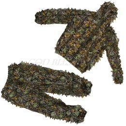 2019 abbigliamento libero dell'uccello Il trasporto libero 1 mette i vestiti di caccia del poliestere 3D cappotto del cappotto dei fogli Camouflage Outdoor Jungle Watch Bird sconti abbigliamento libero dell'uccello
