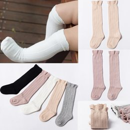 9f2d99d98ee 5 Colors Baby Tube Ruffled Stockings Girls Boys Uniform Knee High Socks  Infants and Toddlers Cotton Pure Color Sock 0-3T