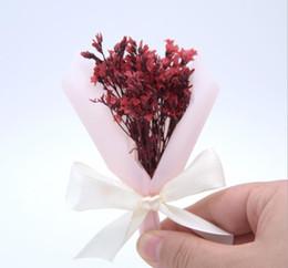 2019 eventos ramo Lápiz labial Cosméticos Regalos Flor de Yongsheng Flores secas Crystal Grass Mini Bouquet Eventos Regalos eventos ramo baratos