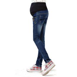 Wholesale trouser jeans for pregnant women - M-3XL Denim Maternity Jeans For Pregnant Women Trousers Pregnancy Clothes Denim Pants Abdominal Elastic Waist Maternity Clothing
