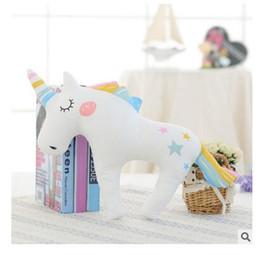 Wholesale Pink Unicorn Plush - Plush Toys Unicorn Cushion Home Sofa Child Kids Room Bedroom Decorative Gift Sleeping Unicorn Pillow Animals Doll Toy DHL Free Shipping