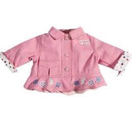 Wholesale Pink Doll Clothes - Pink coat ,Doll Clothes Wear fit 43cm Baby Born zapf, Children best Birthday Gift
