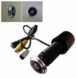 проволока для мини-кулачков Скидка 170 широкий угол CCD проводной мини-дверь глаз отверстие глазок видео HD 1000TVL камеры цветной CCTV камеры