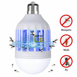 Wholesale fly ul - Electric Trap Light Indoor 15w E27 E27 LED Mosquito Killer Lamp Bulb Electronic Anti Insect Bug Wasp Pest Fly Outdoor Greenhouse