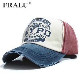 a53f35004c790 FRALU marca Wholsale gorra gorra de béisbol sombrero ajustado Gorras  casuales 5 panel hip hop snapback sombreros lavar para hombres mujeres  unisex