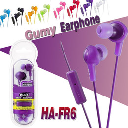 Wholesale Noise Isolation - Gumy Headphones Earphones HA FR6 Earphone Gumy Plus Inner Ear Headset With Comfortable Fit Sound-isolation With Mic Nano Colors Package