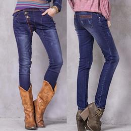 2019 pantaloni scarni floreali harem Jeans donna Boho New Denim Harem Pantaloni Floral Emroidery Vintage Pantaloni a vita bassa Skinny Jean X2205 Pant pantaloni scarni floreali harem economici