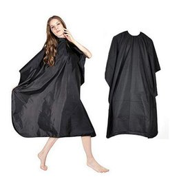 hair barber capes Promo Codes - Adult Black Salon Hair Hairdressing Cutting Cape Barbers Shop Gown Cloth Cover