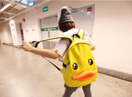 Wholesale Shoulder Bag Duck - 2017 new south Korean edition of the personality duck double shoulder bag cute 3d duck bill backpack canvas school bag
