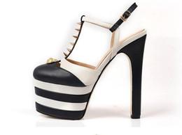 Sandálias femininas gladiador sexy on-line-Nova 2018 quente Sapatos de Plataforma de Fundo Grosso Patchwork Mulher Sandálias de Verão Gladiador Super sexy stiletto calcanhar sapatos de Moda Eu 34-39