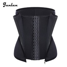 Wholesale Bones Weight - 3 Clip 1 Zipper 6 Spiral Boned Waist Trainer Corset Workout Body Shaper For Weight Loss Tummy Control Tummy Fat Burner Shapewear