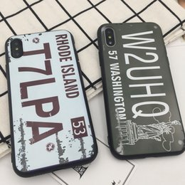 Wholesale Plastic License Plate Cover - 2017 Hot case for iphone x 8 7 6 plus License plate back cover for iphone 10 6s