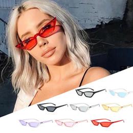 Wholesale Vintage Sunglass Frames - Cat Eye Vintage Sunglasses outdoor sports Women Cat Eye Sun Glasses Retro Small Red ladies Sunglass GGA246 150PCS