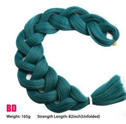 Cabello trenzado de una sola pieza 82 pulgadas Fibra Kanekalon sintética 165 g / pieza Color puro Extensiones de cabello de trenza Jumbo Belleza Cabello desde fabricantes