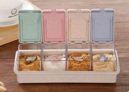 Красочные кухня травы специи коробка приправа соус коробка пластиковые приправы банки банки кухня Кондимен бутылки для хранения от
