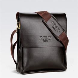 Wholesale multi shoulder bag - Mens Briefcase Business Bags Casual Business PU Leather Mens Messenger Bag Vintage Men's Crossbody Bag Bolsas Black Brown Shoulder Bags