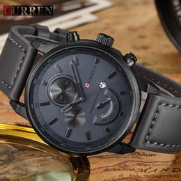 Wholesale Men Watches Curren - Relogio Masculino Curren Quartz Watch Men 2017 Top Brand Luxury Leather Mens Watches Fashion Casual Sport Clock Men Wristwatches