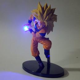Wholesale Anime Dragon Ball Z Figures - Dragon Ball Z Led Light Son Goku Kamehameha 150mm Anime Dragon Ball Super Saiyan Action Figures