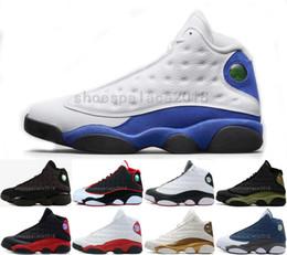 Мужская баскетбольная обувь спортивная спортивная обувь 13 13s GS Hyper Royal Italy Blue Chicago Bred DMP пшеница Оливковая слоновая кость черный кот мужчины спортивные кроссовки от