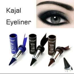 Matita eyeliner spessa online-1pc Donne Smoky Eyes KAJAL Eyeliner Solido spessore nero Bold Occhi matita Liner Gel
