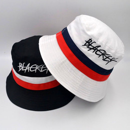 b5997236a4b42 black cloche hat Promo Codes - BLACKEY Letters Embroidered Casual Male  Female Designer Hats Men Women