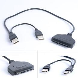 Adaptateur ssd sata en Ligne-Hot USB 2.0 vers SATA 15 + 7 broches de données Adaptateur de câble USB pour SSD HDD de 2,5 pouces