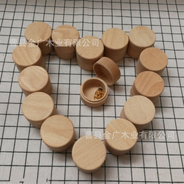 Wholesale wood jewelry organizer case - Woodiness Round Solid Wood Ring Box High Grade Gift Jewelry Case Earrings Pendant Storage Boxes Wedding Accessories 5 8jg WW