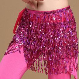 Wholesale belly dance ruffled skirts - Ruffles Skirt Women High Waist Sexy Casual vestido Belly Dance Dancer Costume Sequins Tassel Fringe Hip Wrap Skirts