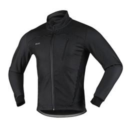 2019 зимняя куртка mtb Arsuxeo мужская Велоспорт куртка зима тепловой теплый флис MTB велосипед одежда Спортивная ветрозащитный пальто - 2018 Новое прибытие дешево зимняя куртка mtb