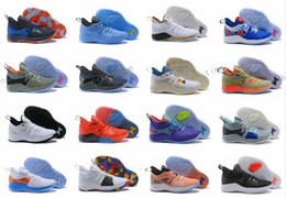 7aea2801e81 2018 New Arrival Paul George 2 Basketball Shoes for Hig quality PG2 PS4 Playstation  Black BLue Red White PG 2s Sports Sneakers Size 40-46