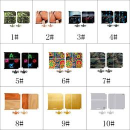 Peaux de vinyle pour ps4 en Ligne-Pour la console PS4 Game Sticker skin en vinyle Console PlayStation et 2 contrôleurs Skins Autocollants Housse de protection Sticker