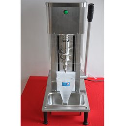 Wholesale Ice Blender Machine - Hot Sale table top LED yogurt blender swirl ice cream machine with stainless steel and plastic cone