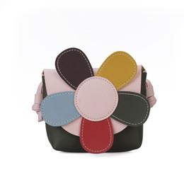Sun Flower Pu Cuir Mini Sac Pour Enfant Art Coréen Et Japonais De Mode De La Ligne De Voiture Épaule Messenger Bag Fille Petite ? partir de fabricateur