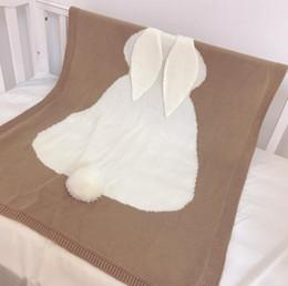 Oreja de conejo Bebé Manta Swaddle Niños Manta de punto Tapicería Alfombra Trolley Manta Casa de viaje al aire libre Cuatro estaciones desde fabricantes