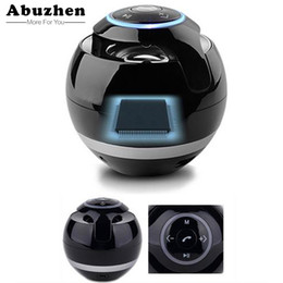 Abuzhen Bluetooth Hoparlör Mini Taşınabilir Kablosuz Hoparlör Soundbar Bas Boombox Ses kutusu Mic TF Kart FM Radyo ile LED Işık cheap apple led speakers nereden elma hoparlör hoparlörleri tedarikçiler