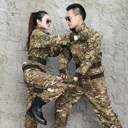 2019 kampfanzug armee Männer Uniform Armee Taktische SWAT Combat Camouflage Uniform Anzug Jacke + Hosen Kommando CS Kleidung Jäger Arbeit Camo Anzug günstig kampfanzug armee