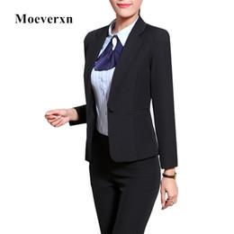 Wholesale Work Uniform Pants - Womens Business Suits Formal Office Pant Suits New 2017 Fall Spring Women Work wear Uniform Style Female Blazer Pant Sets