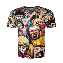 Wholesale Black Zombie - High quality 2017 Newest Fashion Harajuku Men Women T Shirt Resident Evil Zombie 3D Print T-shirt Tshirt Clothes Tops Tees