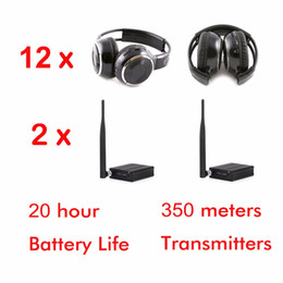 wireless headphones system Promo Codes - Professional Silent Disco Sound System Headphones and RF Wireless headsets (12 folding Headphones + 2 Transmitters)