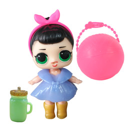 Wholesale doll figurine wholesale - hot Funny Toy 10cm LOL Doll Random Dress Up Baby Tear Open Color Change Egg Dolls serie 1 in the Balls Toys For Girls figurines 3pcs