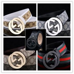 Wholesale Unisex Jeans Brands - 2018 New men's belts B letters smooth G buckle leisure business brand designer men and women H belt cowhide luxury Suitable for jeans