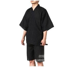 Roupa de dormir tradicional on-line-Quimonos japoneses tradicionais dos homens do algodão do japão yukata salão dos homens em casa clothing ternos pijamas pijamas dos homens novo