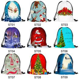 Bolsas de doces de calças de santa on-line-27 Estilos de Sacos de Presente de Natal com cordões Saco de Tecido Médio Santa Saco Saco de Cordão santa calça de natal doce saco de presente para crianças